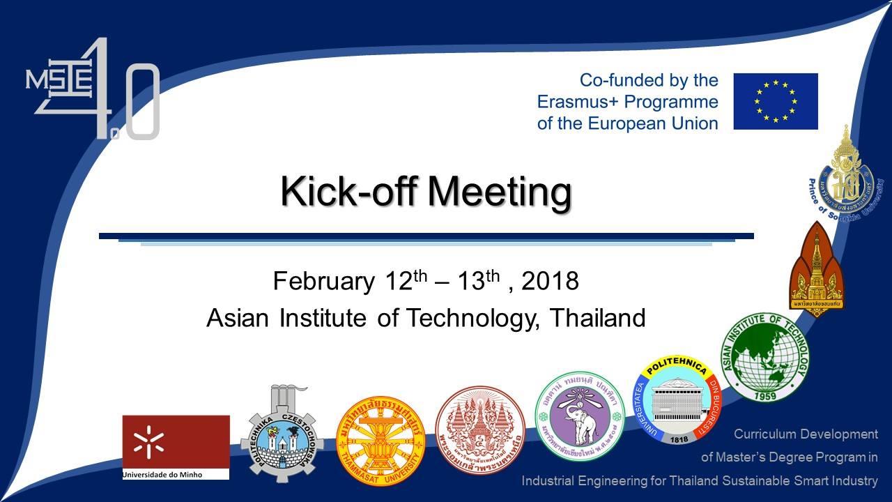 MSIE4.0 Kick-Off Meeting